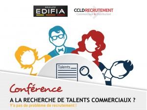 affiche conference talents commerciaux ccld recrutement